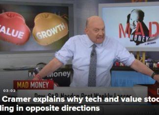 Крамер делает прогноз на акции в Шоу Безумные деньги