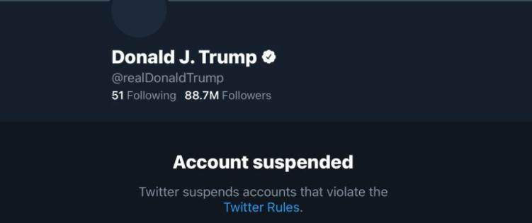 В 1м квартале Твиттер забанил Дональда Трампа