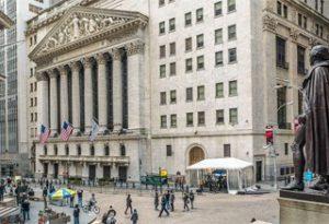 Wall Street - здание Нью-Йорской фондовой биржи