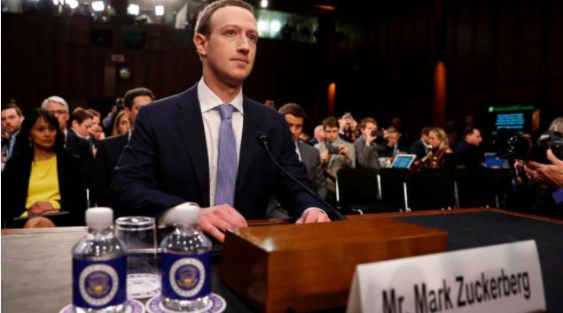 Марк Цукерберг на слушаниях в конгрессе США - апрель 2021 года